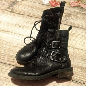 Lucky Brand Black Leather Boots size 6